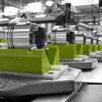 Machining line, pistons